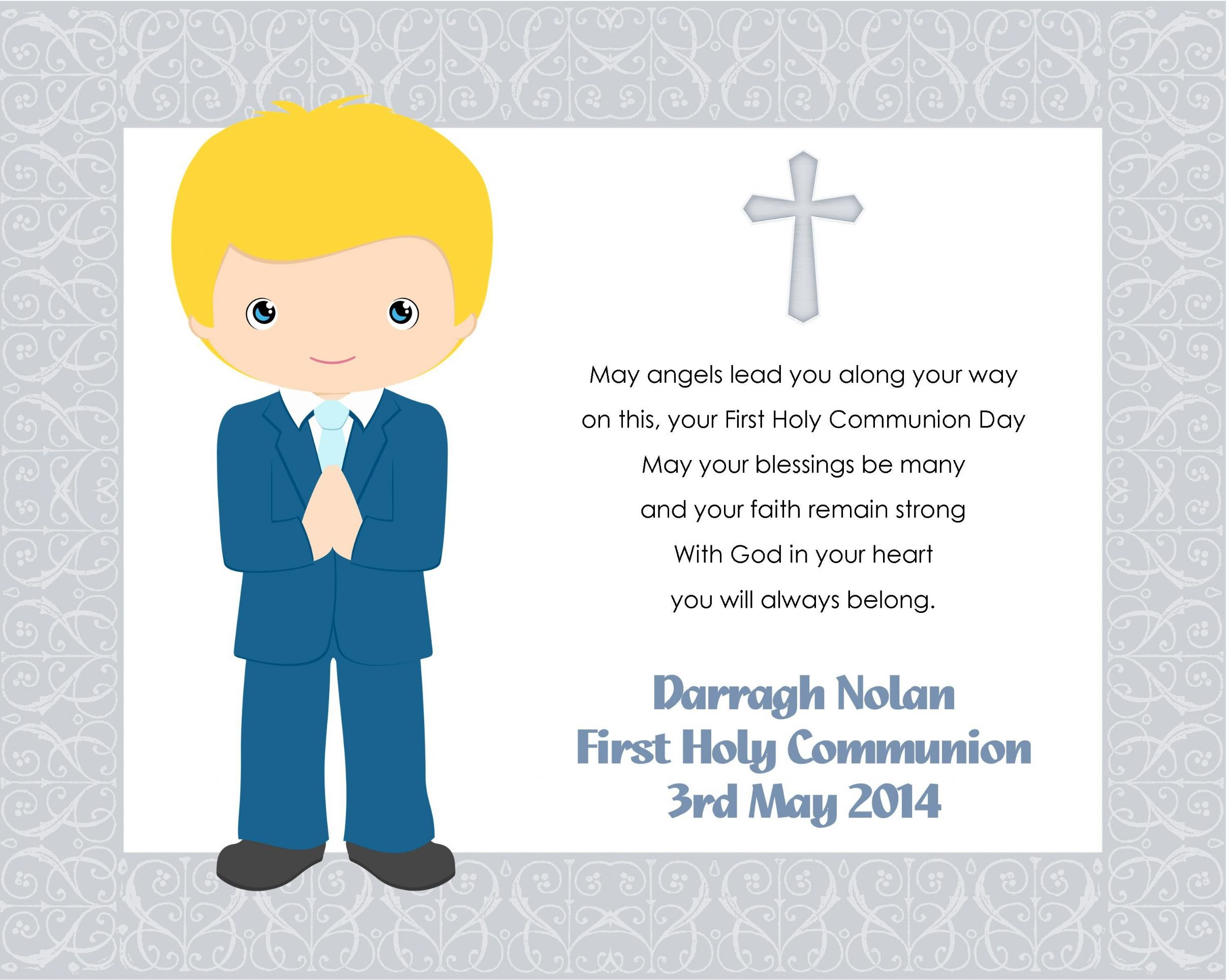 1St Holy Communion Invites for adorable invitation layout